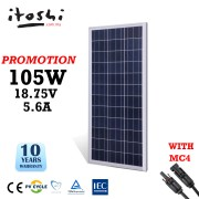 105W Poly Cell Solar Panel DIY Solar System